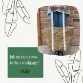 Na zdjęciach przedstawiona została krótka instrukcja dbania o nasze torby z washpapy. ☝🏼 Washpapa to ekologiczny papier z dodatkiem lateksu, który można prać i szyć a w dodatku jest bardzo trwała i elastyczna ♻️  A czy Wy macie coś z washpapy w swojej kolekcji? Daj nam znać!❤️