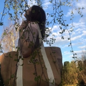 Piękna Julka ze swoim brązowym shopperem 🤎