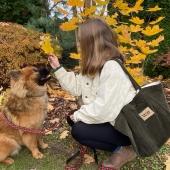 przepiękna jesienna Aura i nasz sztruksowy zielony shopper 🍂🍁💚🙌🏻🌞 Link do sklepu- https://sklep.witt.com.pl 🥰